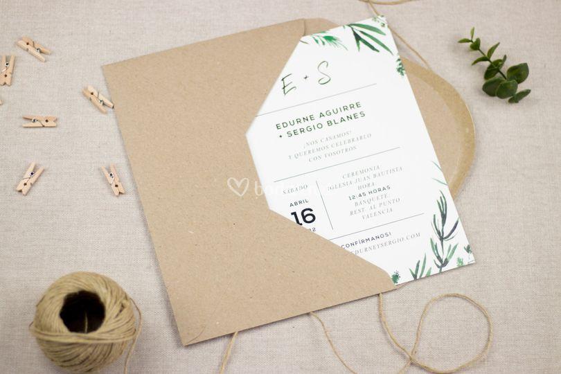 Invitación Mod. Forest