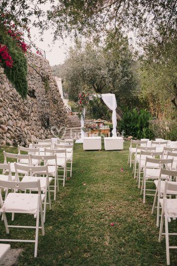 Ceremonia en el césped