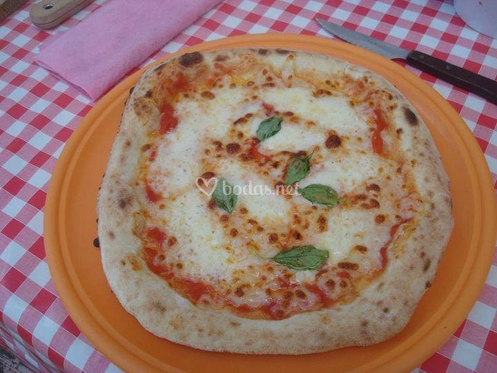 Auténtica pizza Margerita