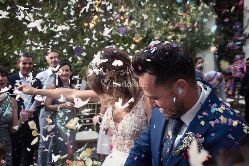 Confeti boda