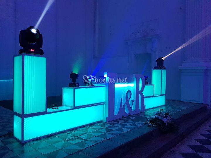 Disco horizontal led