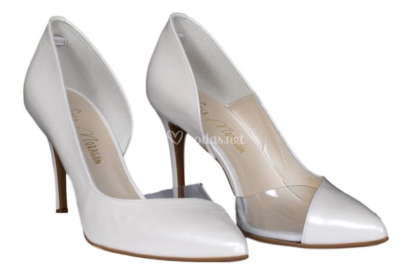 Zapato novia vinilo