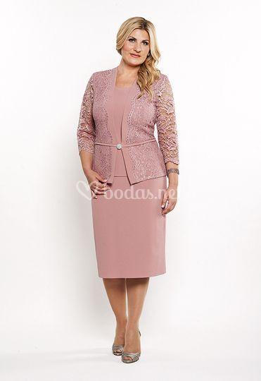 Vestido en rosa palo de Zsa Zsa