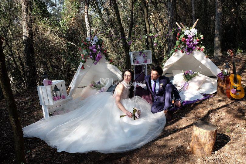 Decoración de tipis para bodas