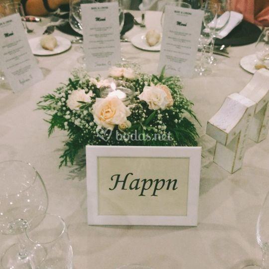 Personalización de mesas