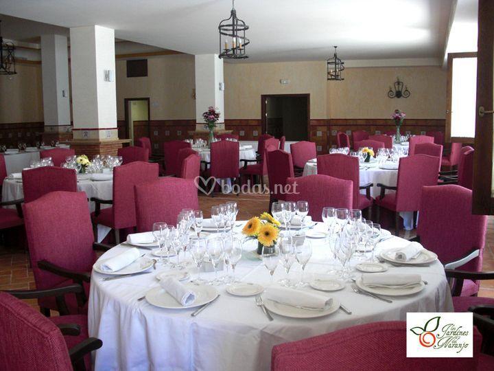 Arreglo floral salón de bodas