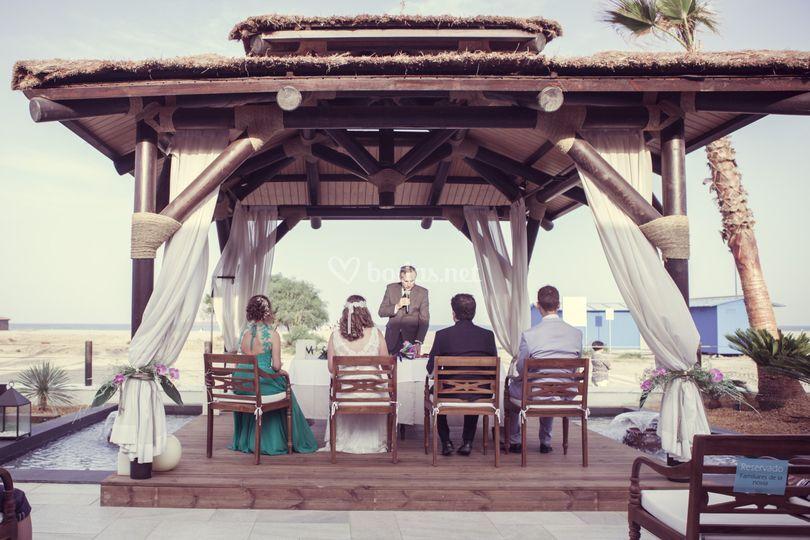 Ceremonia en la palapa
