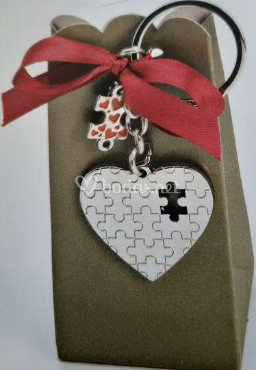 Llavero Corazón puzzle