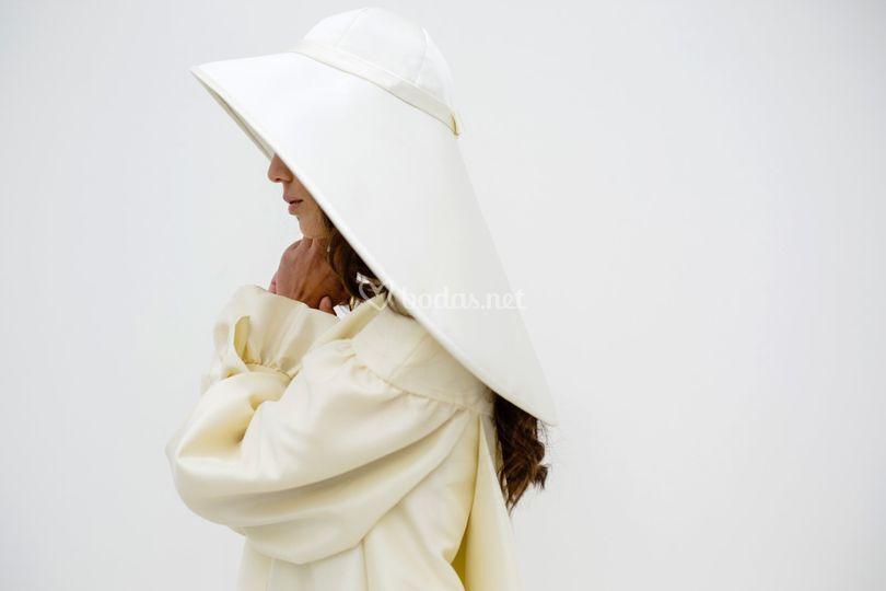 Sombrero en mikado crudo