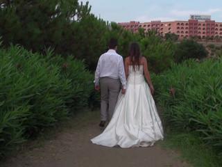 Daniel y Lorena en la playa