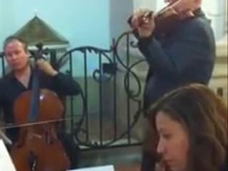 Sarabande de Haendel para clave, violín y cello