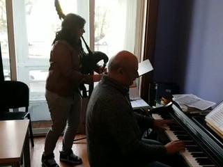 Piano y gaita