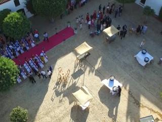 Llegada a la ceremonia de Javier y Mª Del Mar - Tomas aéreas -