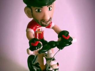Llavero de ciclista