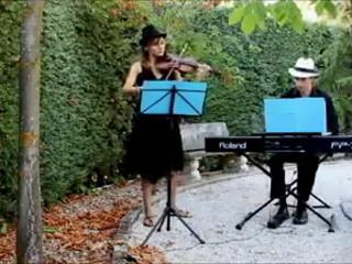 La cumparsita, violín y piano
