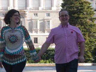 Elena y César, pre boda en Madrid.