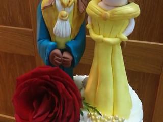 Tarta de boda de La Bella y La Bestia