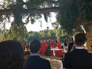 Otra novia que canta en su boda, ¡qué arte!