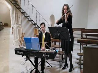 Dúo de violín y piano. Heilig, heilig, heilig. Schubert