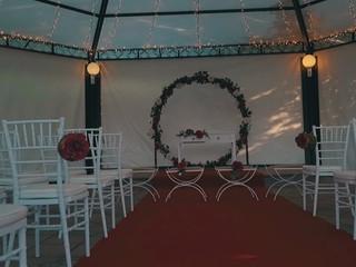 La decoración dela ceremonia