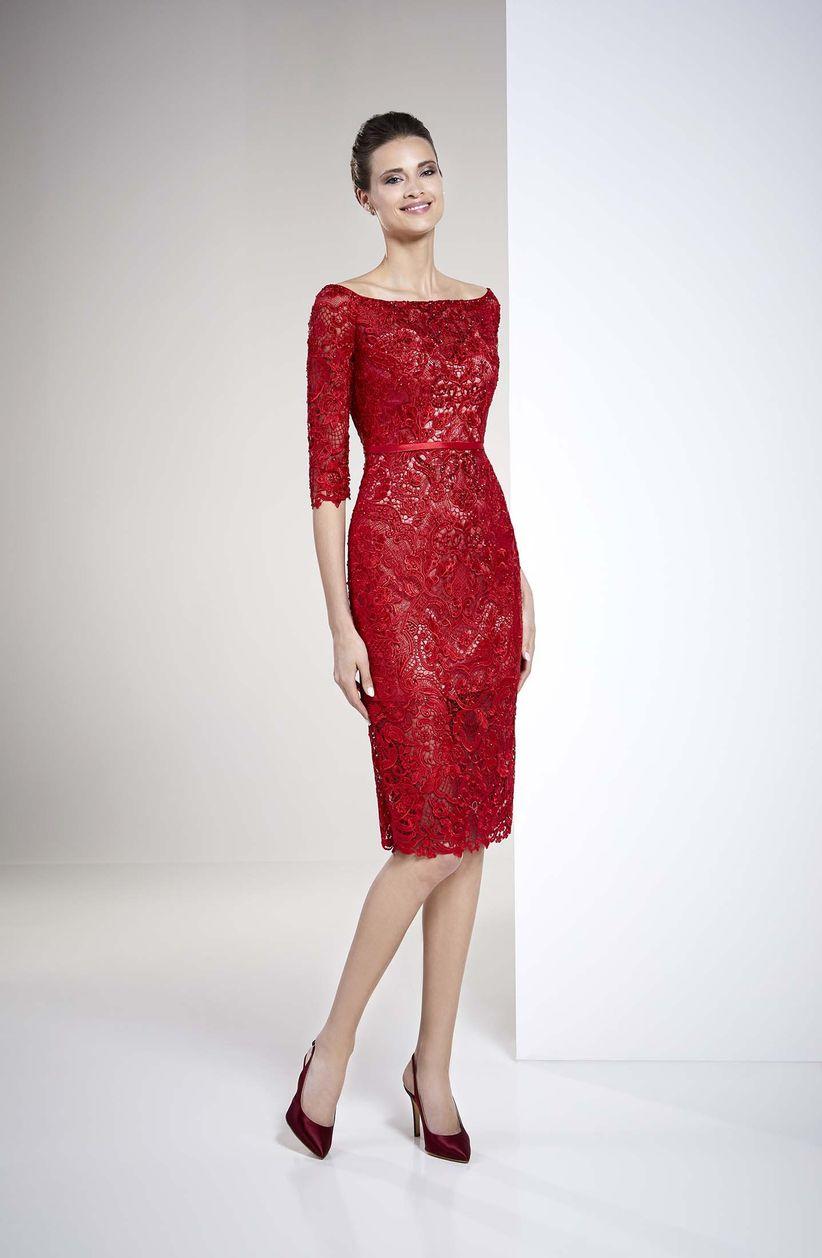 a96b5f30b Vestidos rojos de fiesta  más de 100 looks para impactar