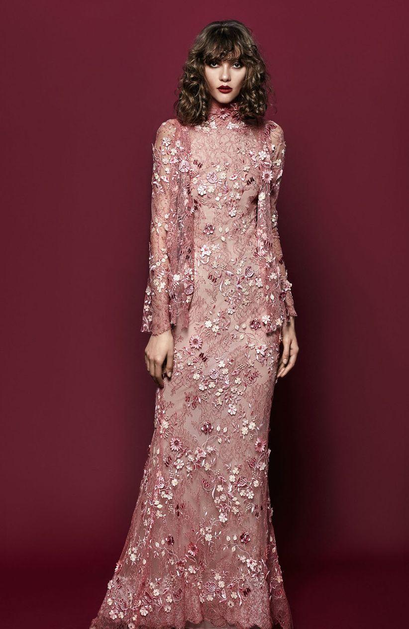 Vestidos de fiesta YolanCris 2018: fusión de detalles en looks Couture