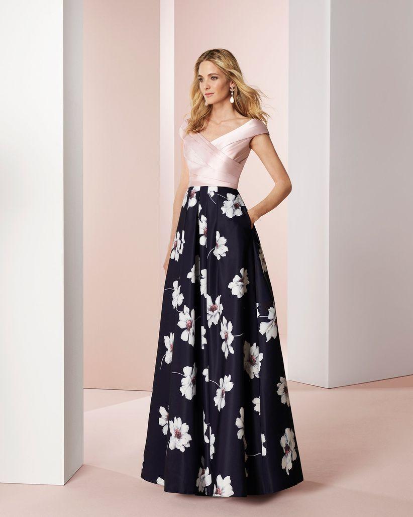 Imagenes de vestidos de noche floreados