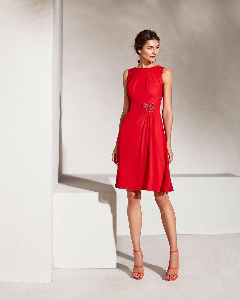 Vestidos rojos para asistir a bodas