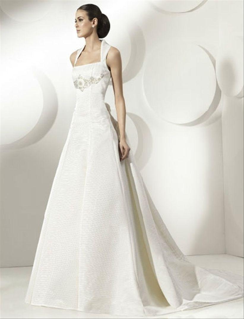 vestidos de novia con escote cuadrado