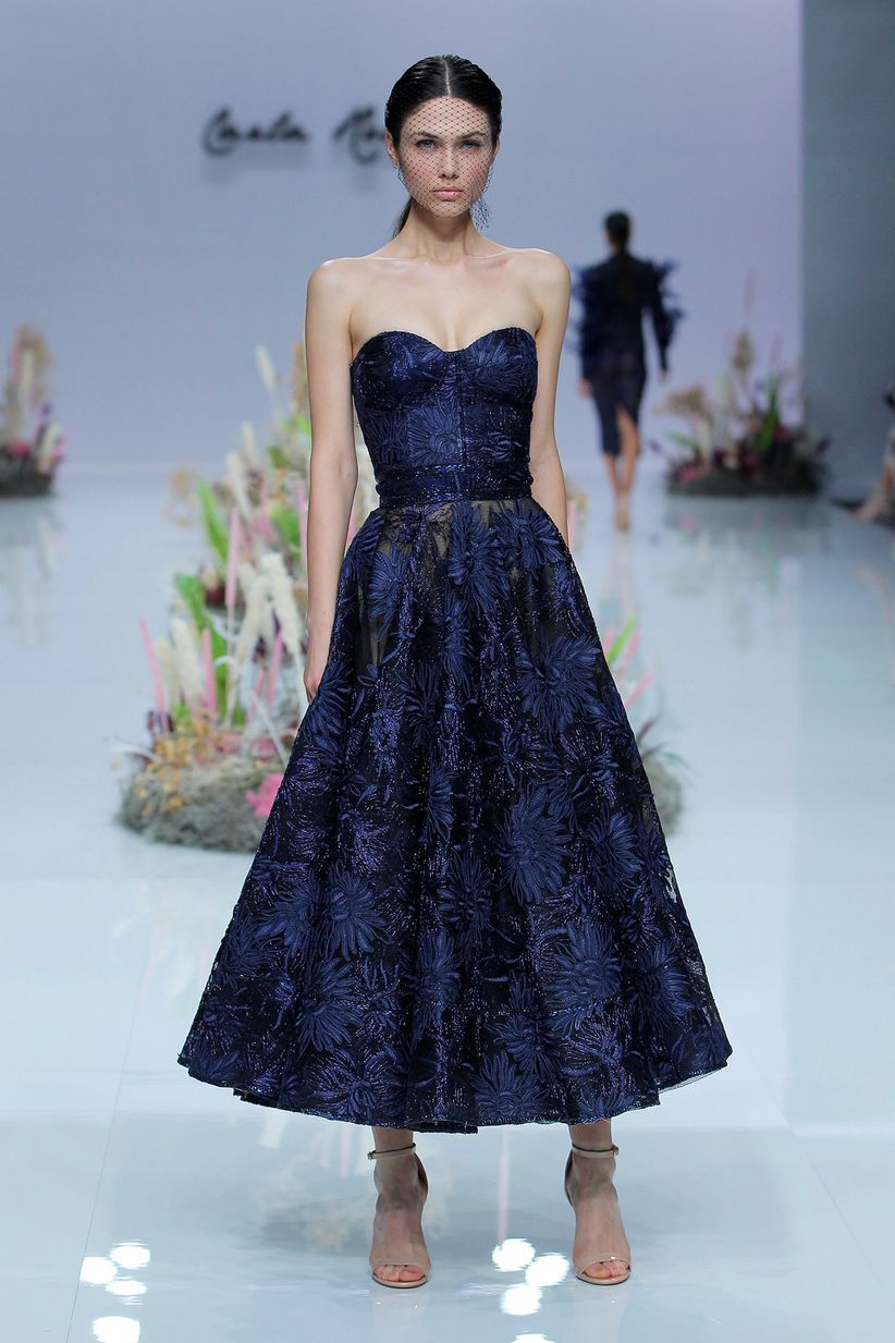 Complementos para vestido largo azul noche