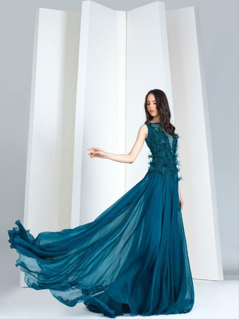 Imagenes de vestidos color azul petroleo