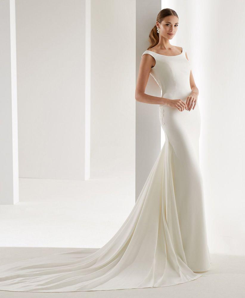 602ba8115 80 vestidos de novia sencillos para bodas civiles