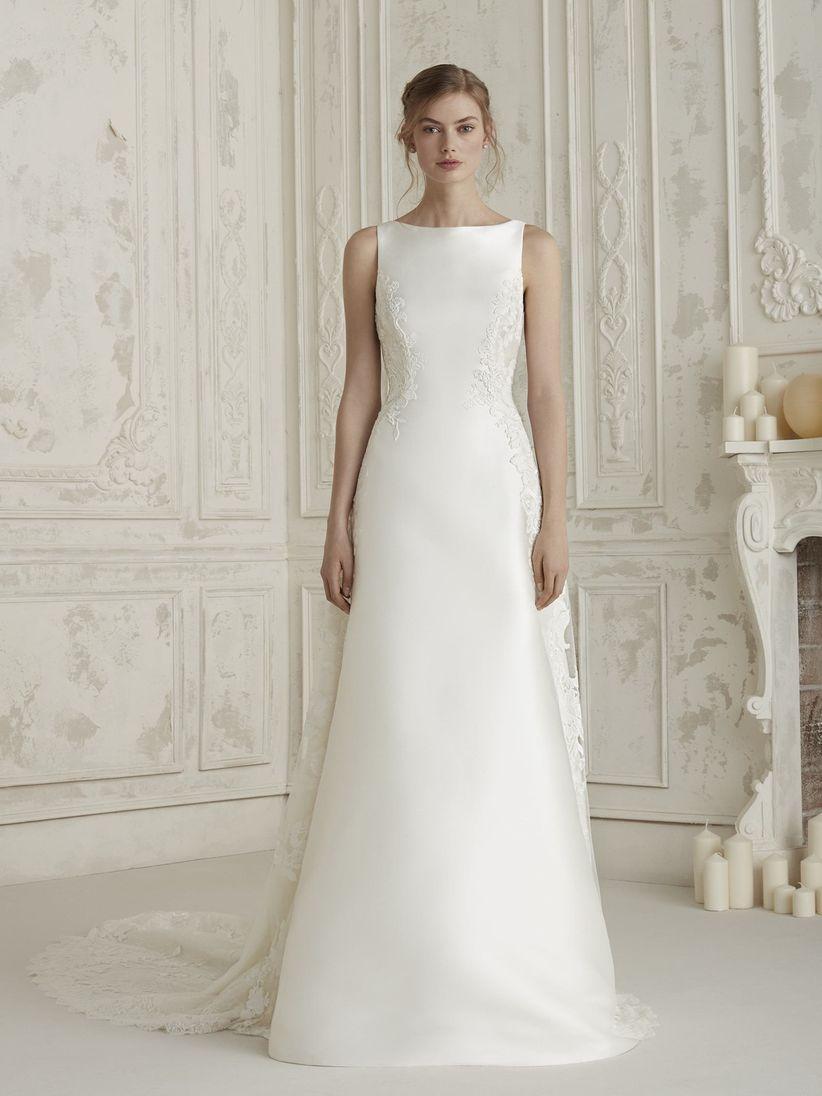 93bf2358fd 80 vestidos de novia sencillos para bodas civiles