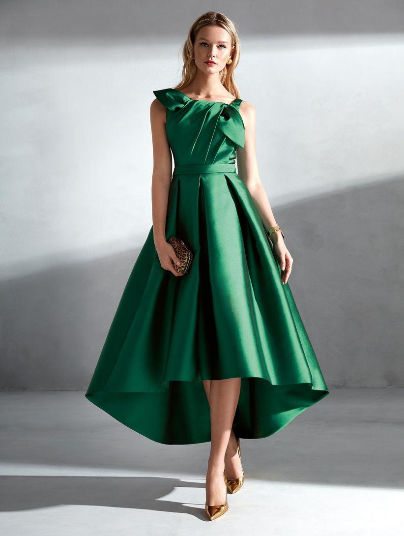 7d1b874eb Vestidos verdes de fiesta  50 modelos para enamorar