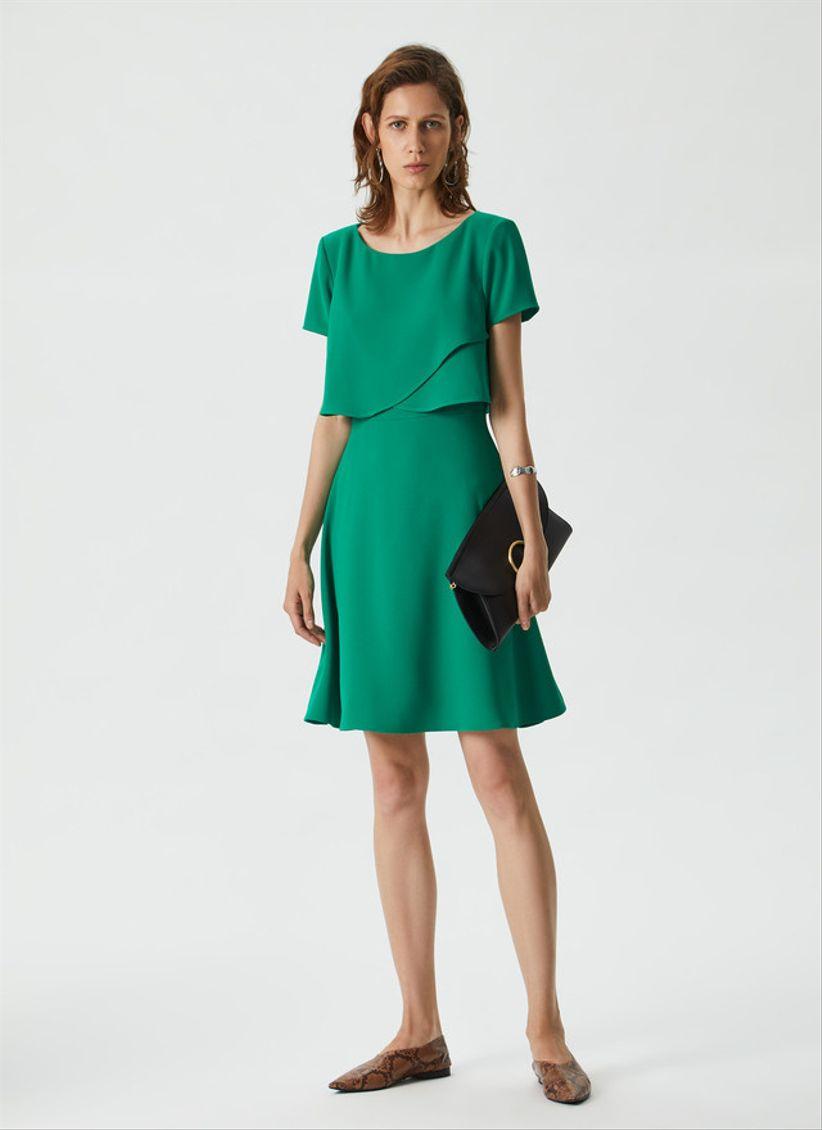 Complementos vestido verde oliva