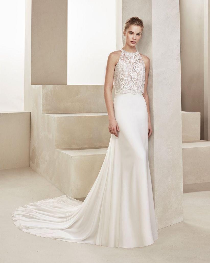 331f07531 45 vestidos de novia con escote halter que te enamorarán