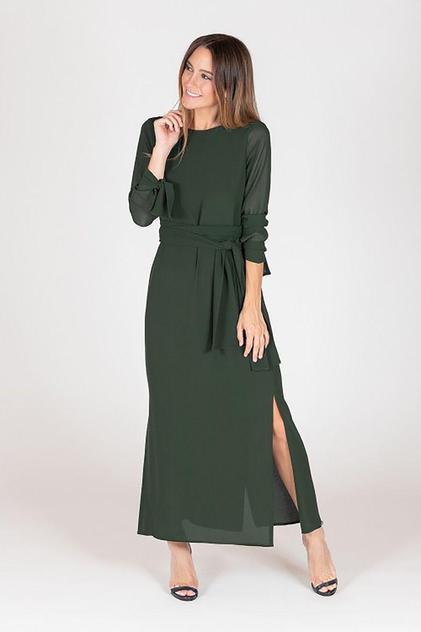 1ea253a9ea Vestidos verdes de fiesta  50 modelos para enamorar