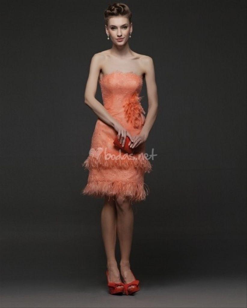 Vestidos de fiesta cortos de rosa clara
