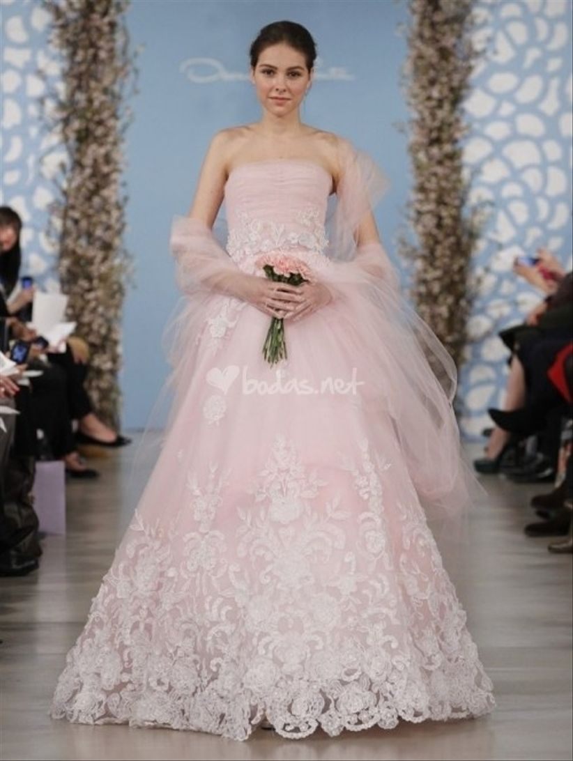 Vestidos de novia en rosa