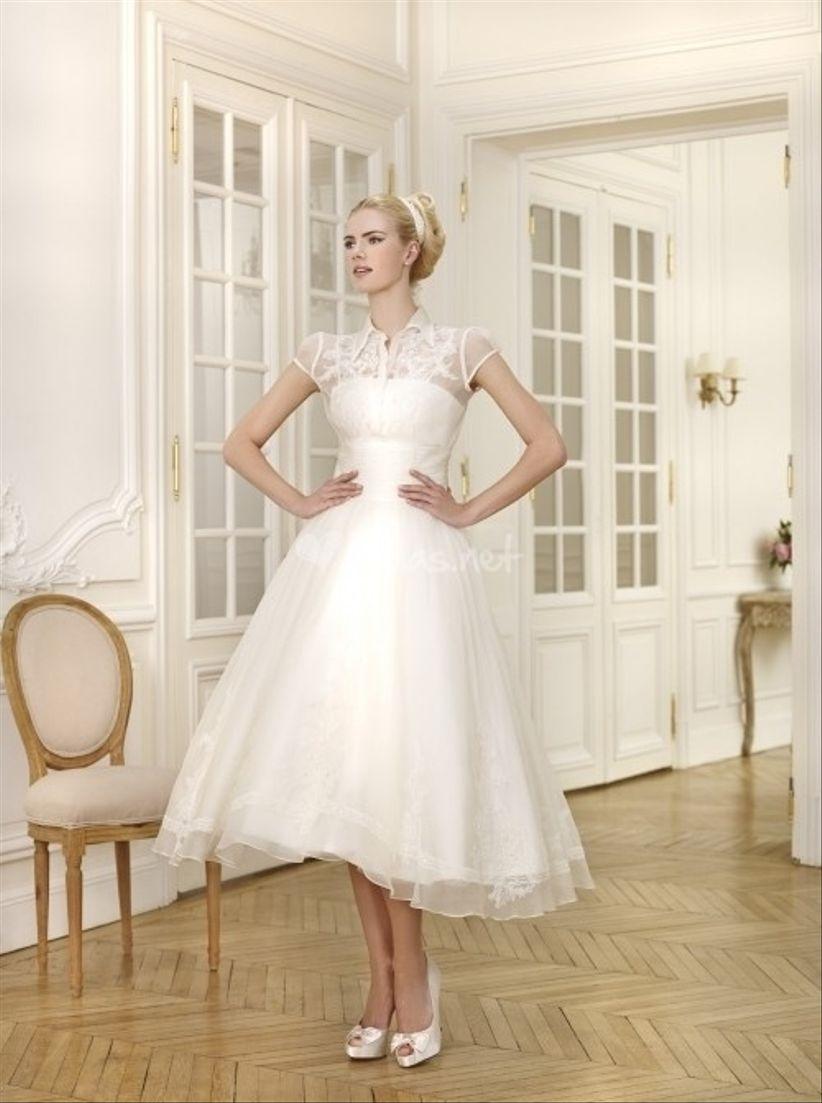 vestidos de novia cortos 2014
