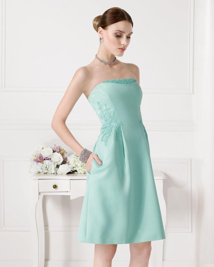24 vestidos de fiesta aguamarina para bodas de verano