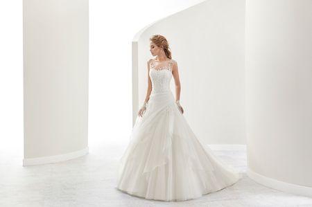 75 vestidos de novia con escote ilusi�n: puro romanticismo