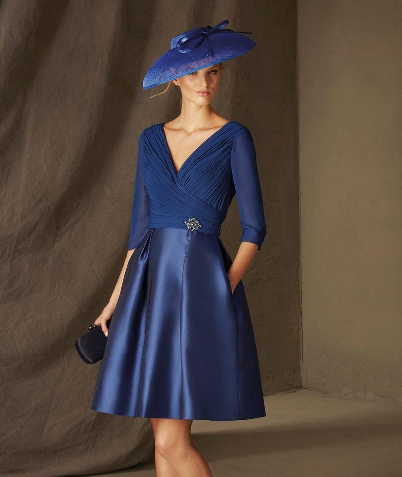 Vestidos de madrina de boda color azul