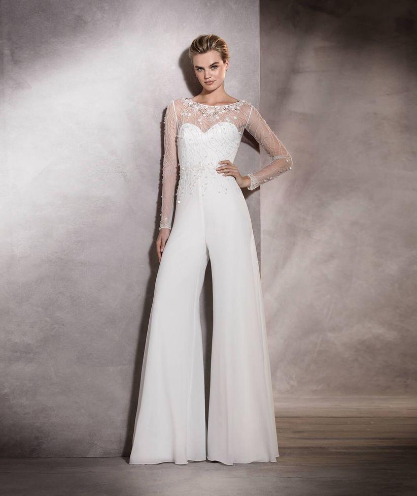 745df442 Todos los trajes de pantalón para novia de la temporada