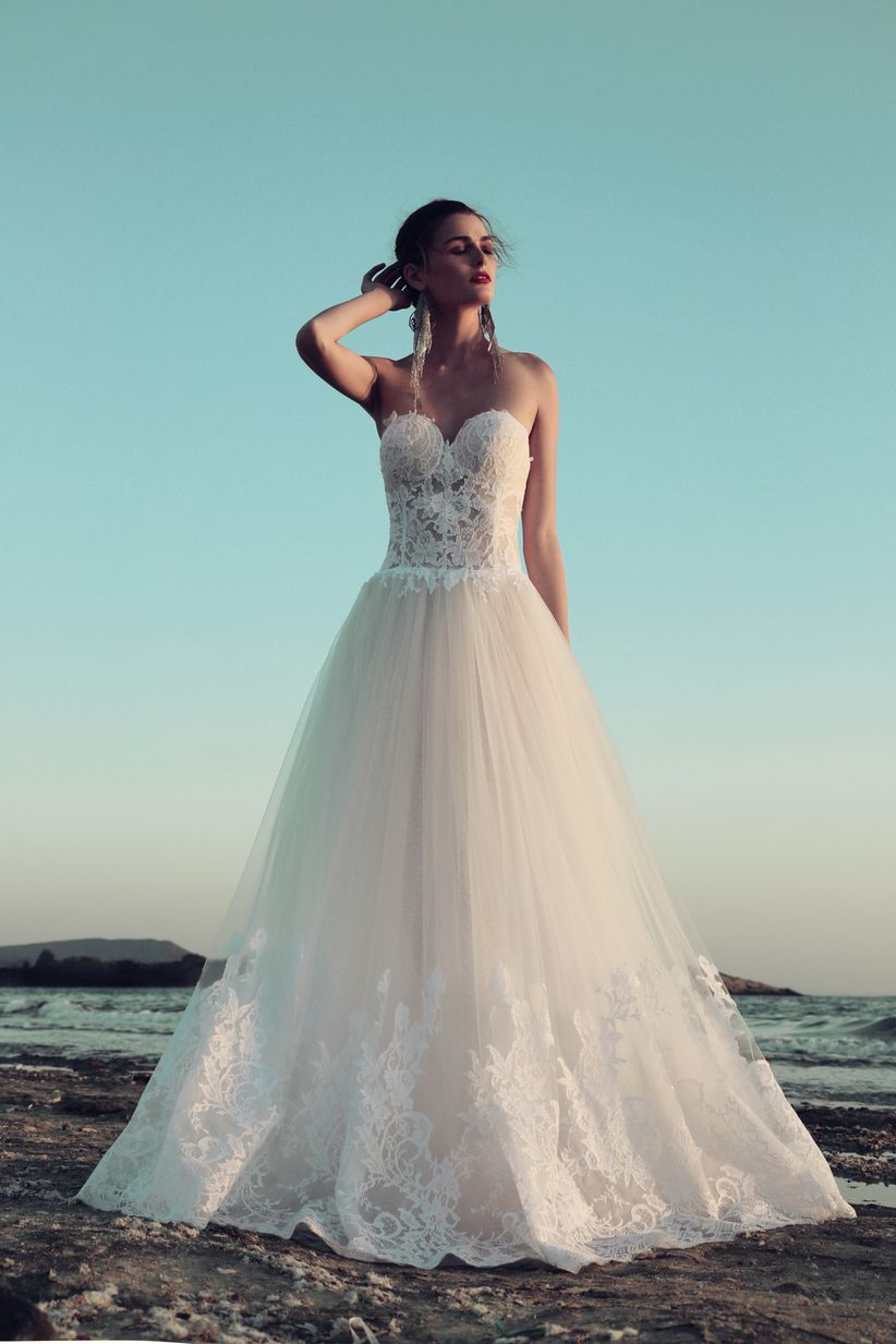 80 vestidos de novia con escote corazón