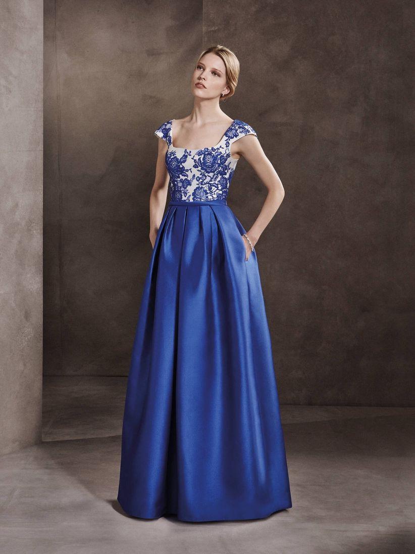 Vestido para boda azul electrico