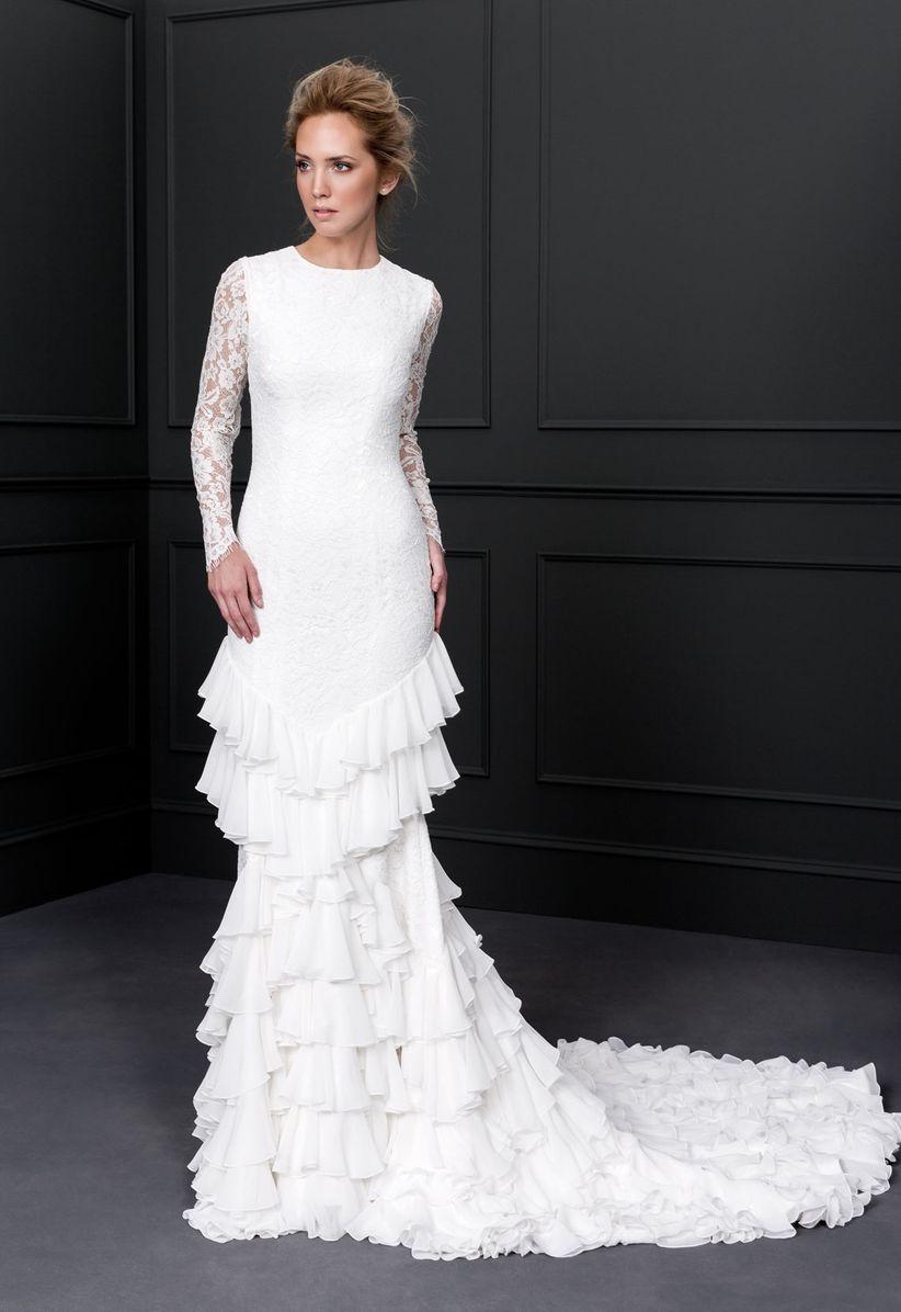 99 vestidos de novia con volantes muchos volantes - Victoria martin berrocal ...