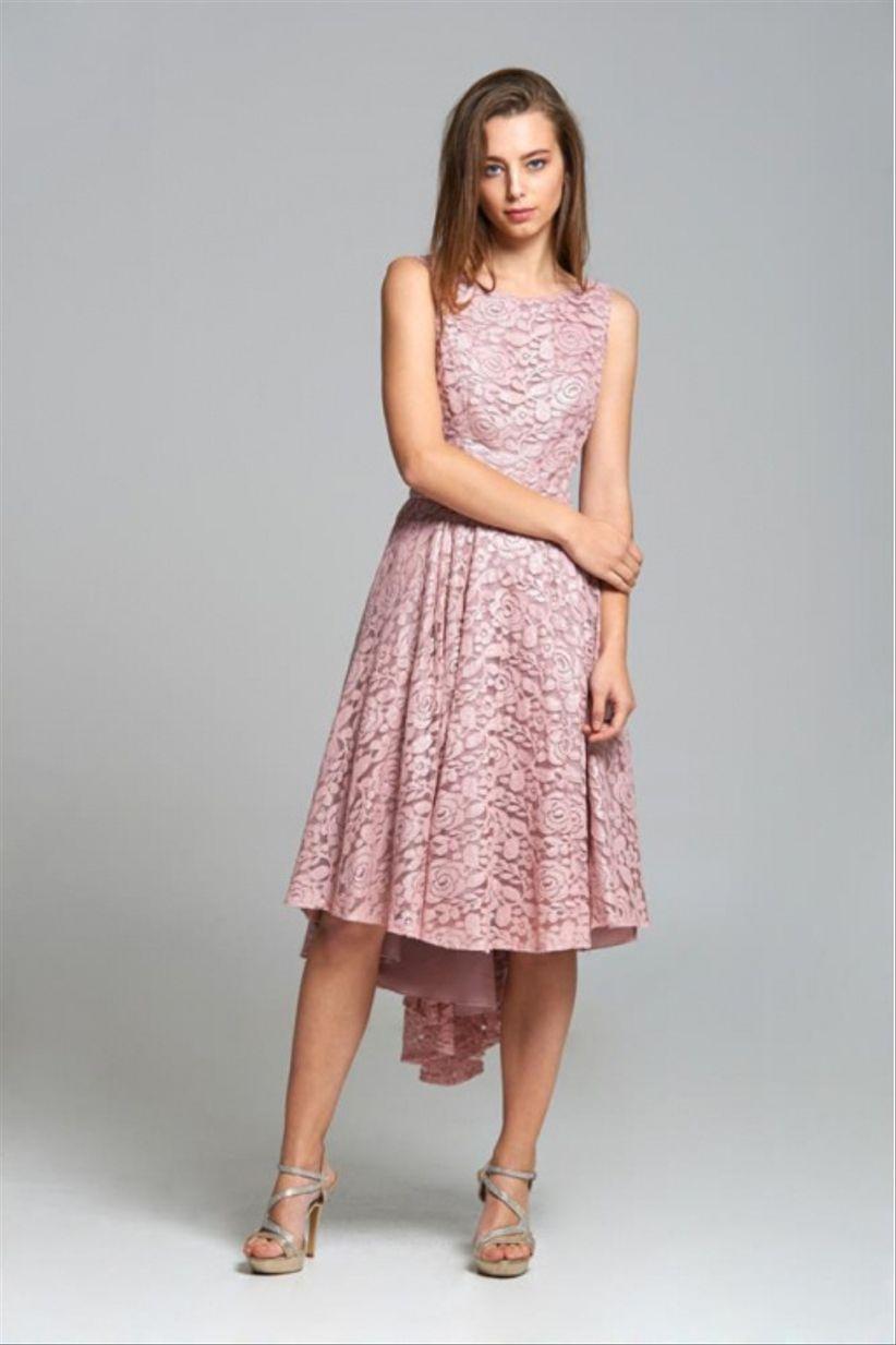 Vestido rosa palo para una boda