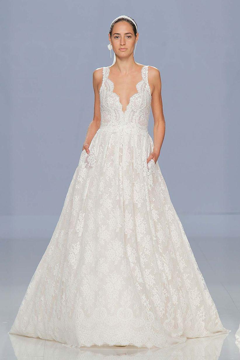 Vestido de novia de la mujer de risto