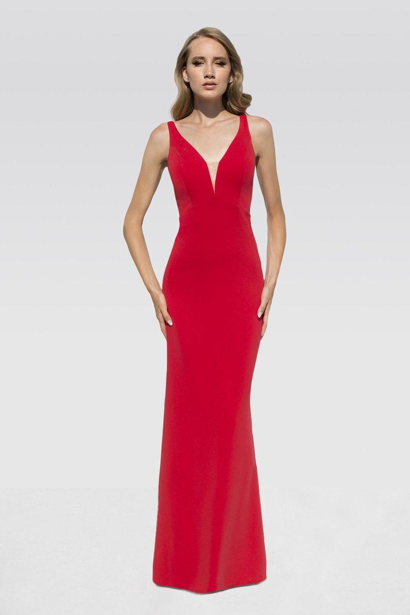 62485fd86f54c Vestidos rojos de fiesta  más de 100 looks para impactar